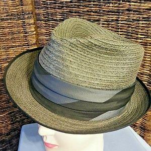Vintage 1950s Champ Nagano Size 7 Gray Straw Hat